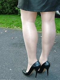 Black high heels always look amazing when they are worn..
