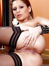 Alison Star in Black stockings