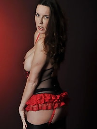 Nylon Jane has some gorgeous new lingerie on and is..