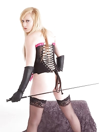 You will love to have this blonde mistress spank you hard
