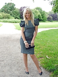 A cute blonde with some very naughty high heels on