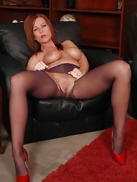 Alluring darling has lusty nylons treasure