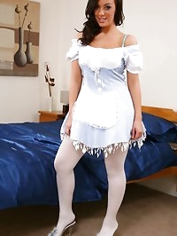 Stunning Lindsey dressed as alice in wonderland with white..