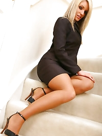 Gorgeous Emma Claire in ther lovely secretary suit with..