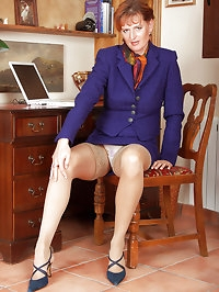 42 year old office lady takes a break  and spreads her..
