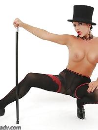 Broadway slut's special nylon show