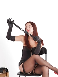 Femdom Honey is ready to gag and grope you in her long..