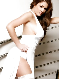 Prestige at OnlyTease with busty brunette Lucy Pinder in..