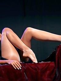 Sweet MILF legs in shiny pantyhose