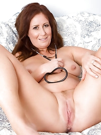 Sexy housewife Carol Foxwell from AllOver30 playing doctor..
