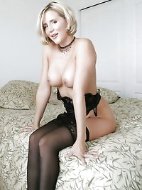 Super Hot Black Lace Teddy & Stockings