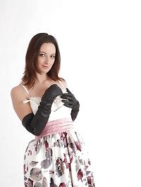 This little stunner loves having leather gloves put on her..