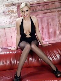 Scarlet Lovatt - Red leather, black nylon