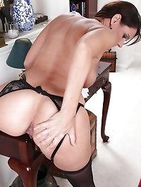 Secretary Dylan Dole strips butt naked on the office floor.
