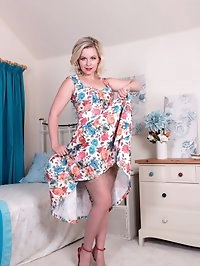 Anna is feeling fresh, lovely in her floral frock and..