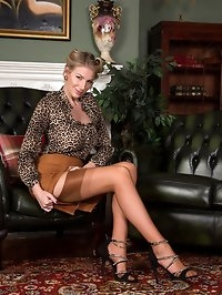 Danielle the I.O.A.M. CEO strips to glamour wear, heels..