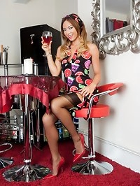 Join Natalia in her private bar for a drink and some..