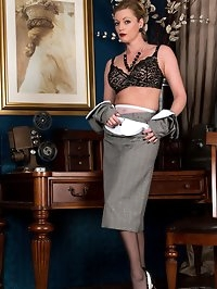 Holly looking stunning in black lingerie ff stockings and..