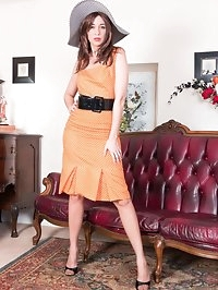 Looking elegant in a polka dot frock, Tracy is eager to..
