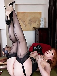 Red, leader of the Nylons Party, stands for sexy hosiery..