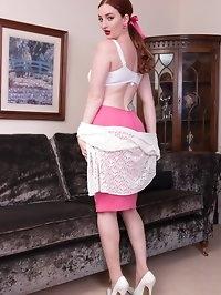 Busty slim redhead Zara is no wallflower, she just loves..