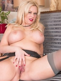 Curvy blonde Anna is ready to let you get down and dirty,..
