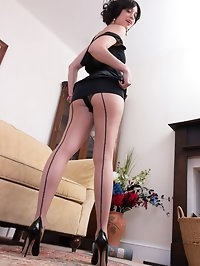 Tracy seems demure but when she gets going shes hot stuff!..
