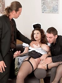 Tag-team Fuck For A French Maid