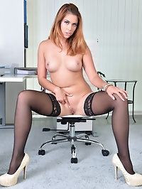 After a long day at the office, Ani Blackfoot just cant..