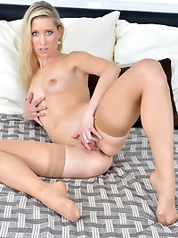 Blonde mom Uma Zex is a stately tall housewife with sex on..