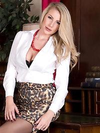 Stunning blonde Danielle Maye is an incredible trophy..