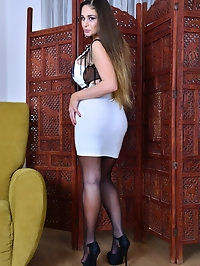 Hungarian mom Cathy Heaven has some huge knockers that she..