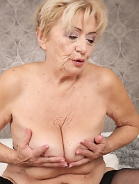Horny mature Maya Lambert gets her wet meaty pussy pounded..