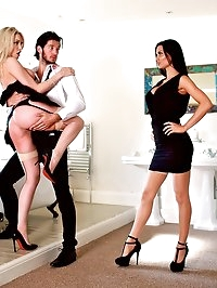 Jasmine Jae & Maid Tamara Grace Get Off in a Hot Threeway