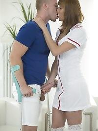 New Cummer and Nurse Victoria Daniels Loves it Hardcore in..
