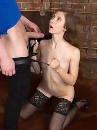 Russian Brunette Beauty Stefany Gets Banged in Stockings