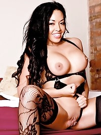 Asian Sensation Busty Slut Rio Lee Trials a Big Hard Cock