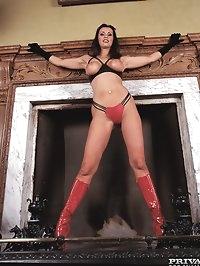 Cougar Brunette Slut Angie George Loves Some Fetish Anal