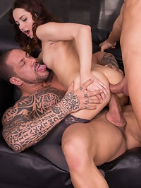 Ashley Woods is tight and is ready for a hardcore threesome