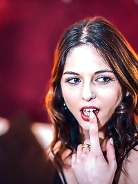 Rachel Adjani takes a facial cumshot after interracial anal