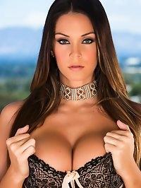 Big Tittie Alison Tyler teases then makes herself cum on..