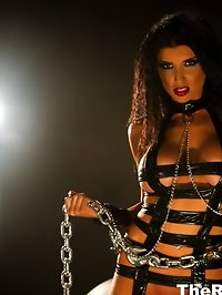 Romi in chains and leather