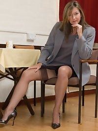 vintage lingerie under business suit