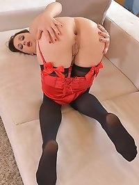 New, Hot & Seductive: Leg Fetish Babe in Nylon Stockings
