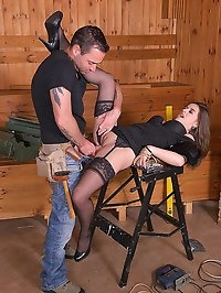 Carpenters Revenge: Submissive Client Tied Up For Anal Sex