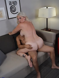 Naughty Cougar Anna Moore fooling around with her toy boy