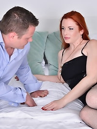 Hot red mom Michelle Russo goes all the way with her lover