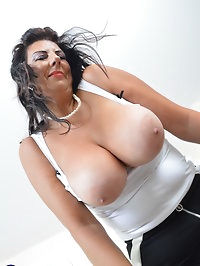 Big breasted Lulu playing with herself