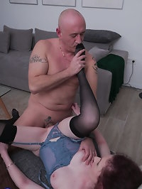 Naughty housewife doing her lover