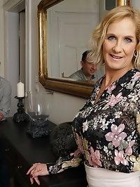 Naughty British housewife Molly Maracas getting naughty..